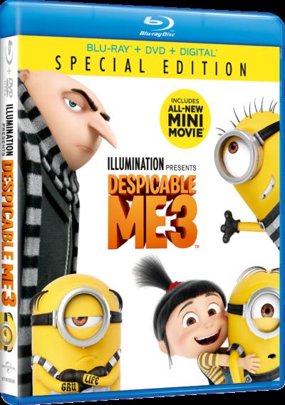 despicable me 3 dvd image